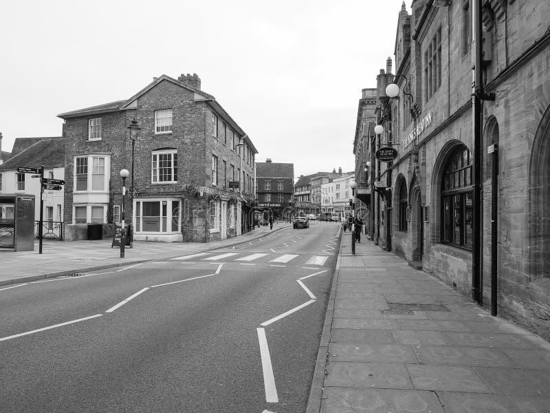 Sikt av staden av Salisbury i svartvitt arkivbilder