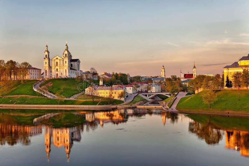 Sikt av staden av Vitebsk arkivfoton