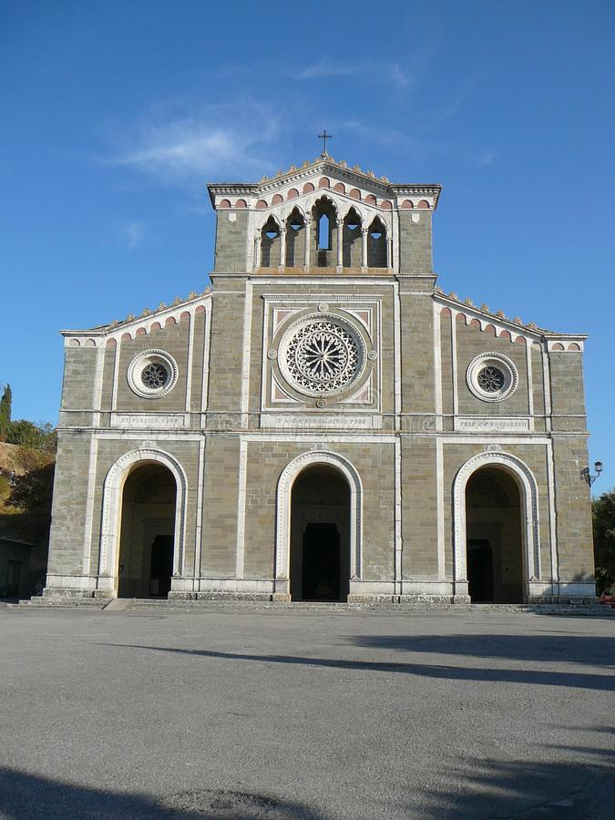 Sikt av staden av Cortona royaltyfri foto