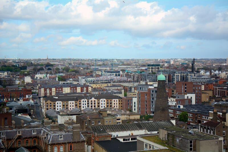 Sikt av staden, Dublin, Irland royaltyfria bilder