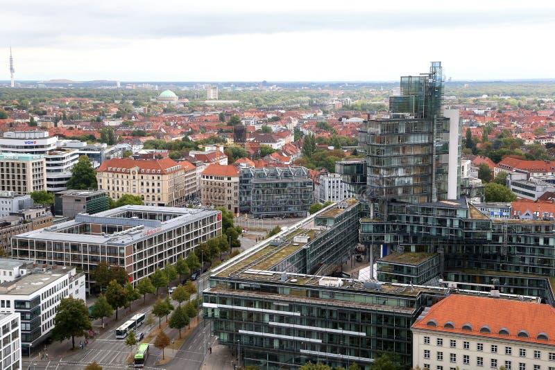 sikt av staden från observationsdäcket av det nya stadshuset royaltyfri foto