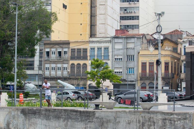 sikt av staden Rio de Janeiro royaltyfria foton
