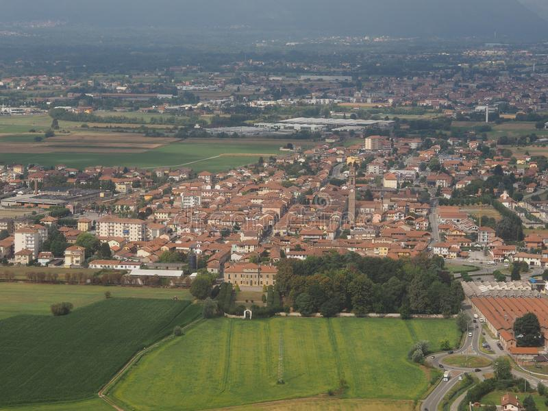 Sikt av staden av San Francesco Al Campo royaltyfria bilder