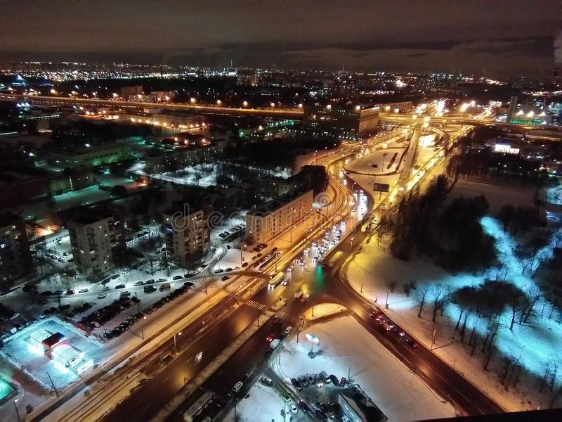 Sikt av staden av St Petersburg royaltyfria foton
