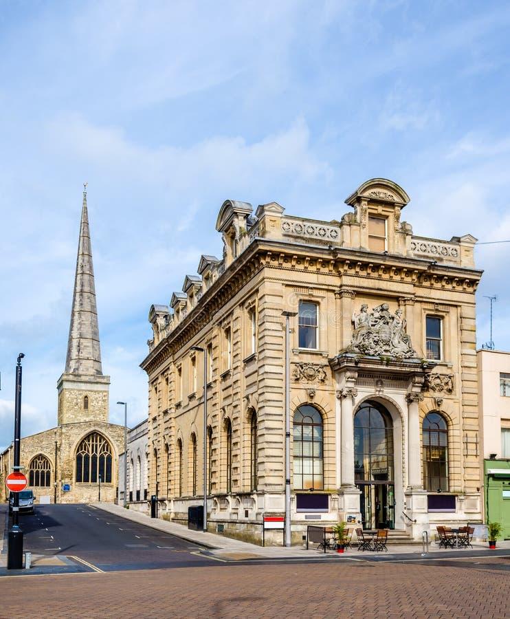 Sikt av Sts Michael kyrka i Southampton arkivfoton