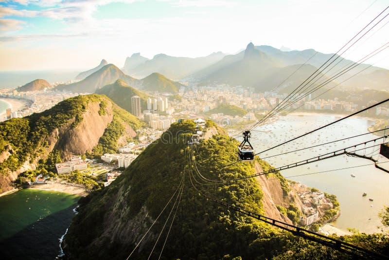 Sikt av Sugar Loaf i Rio de Janeiro arkivbild