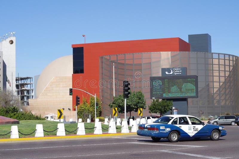 Sikt av Tijuana Cultural Center arkivbilder