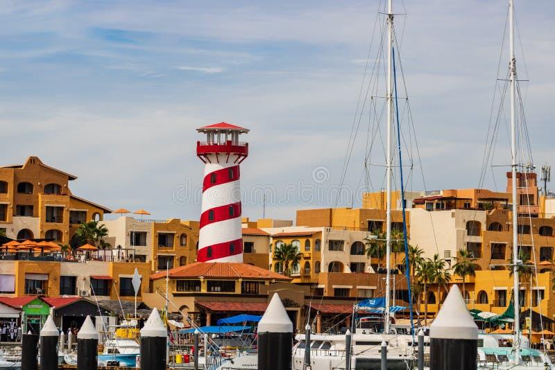 Sikt av tornet i Cabo San Lucas, Mexico, Baja California arkivfoton