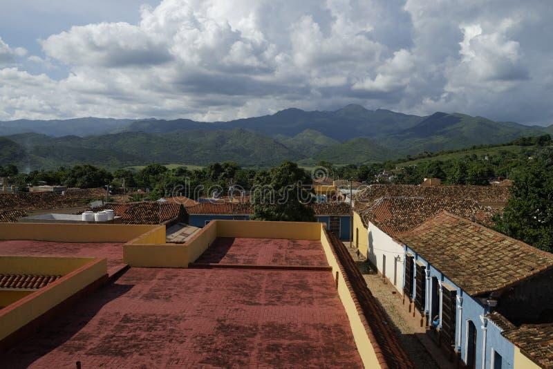 Sikt av Trinidad de Cuba arkivbilder