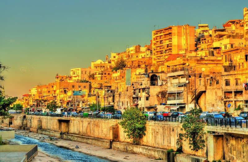 Sikt av Tripoli, denstörsta staden i Libanon fotografering för bildbyråer