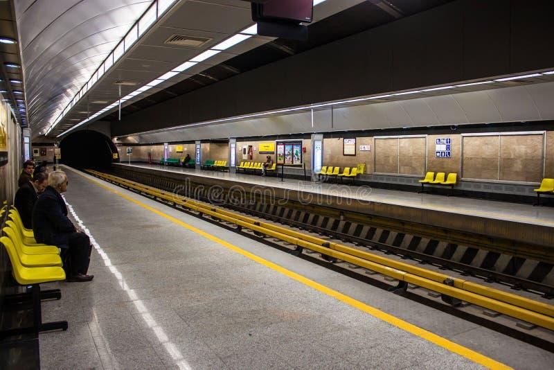 Sikt av tunnelbanastationen royaltyfri fotografi