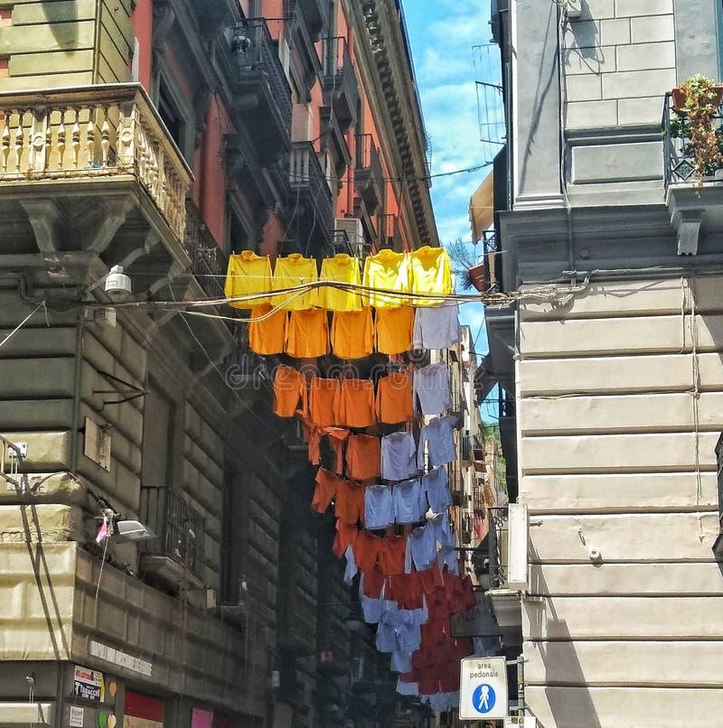 Sikt av via den Toledo gatan, Naples arkivbilder