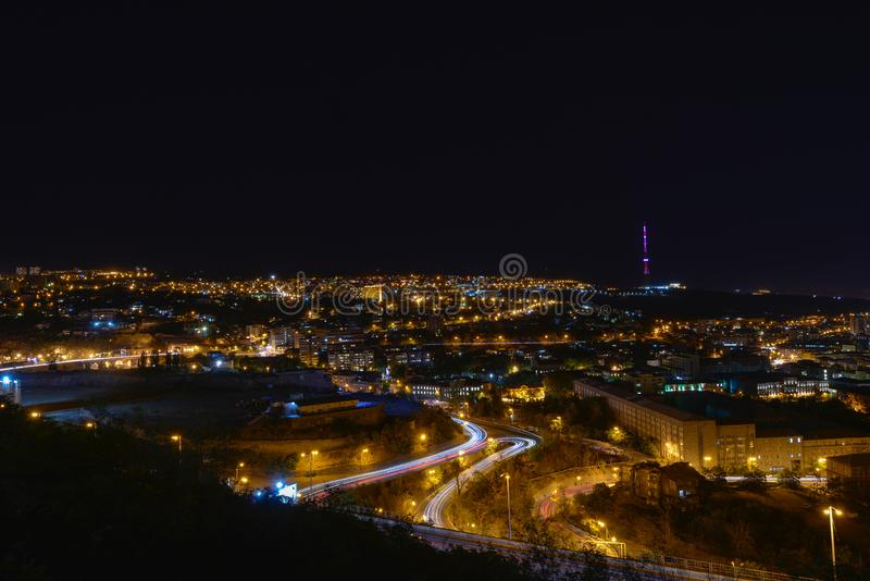 Sikt av Yerevan, huvudstaden av Armenien royaltyfri foto