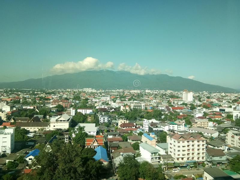 Sikt Chiang Mai Thailand royaltyfri foto