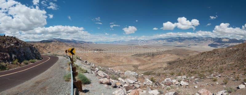 Sikt Death Valley USA för Dante ` s arkivfoto