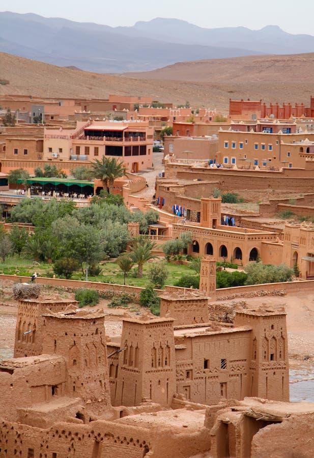 sikt för ait-benhaddoukasbah royaltyfria bilder
