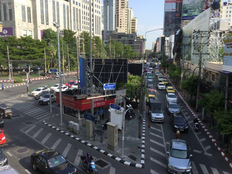 Sikt för Asoke Montri väggata i Thailand arkivfoto