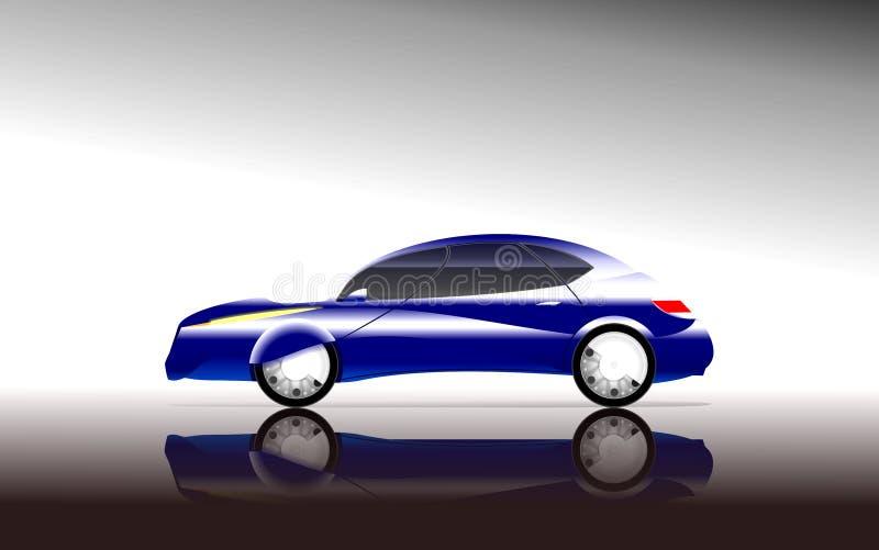 sikt för bilbegreppssida stock illustrationer