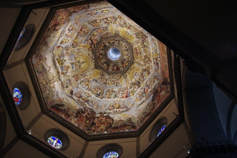 Sikt för Brunelleschi kupolinsida royaltyfria bilder