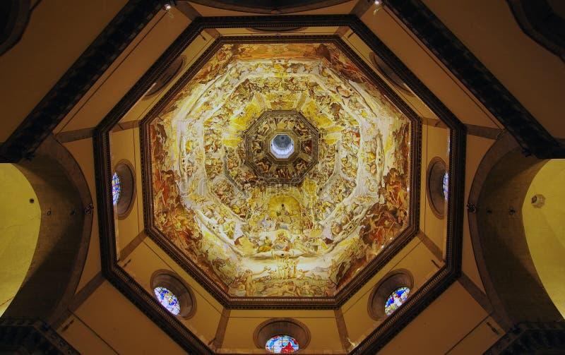 Sikt för Brunelleschi kupolinsida fotografering för bildbyråer