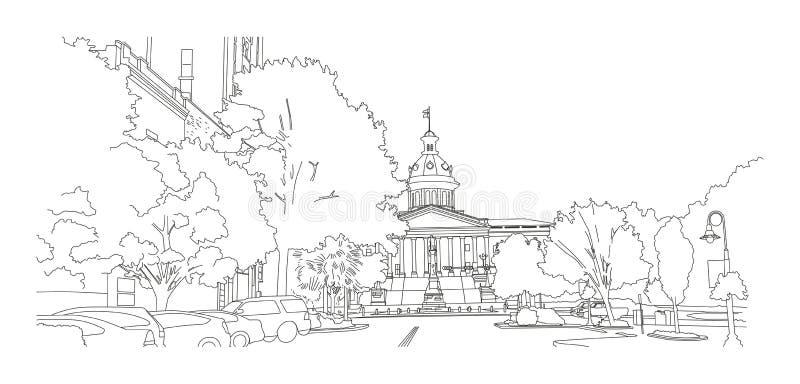 """Sikt för Columbia SC-†""""på statligt hus stock illustrationer"""