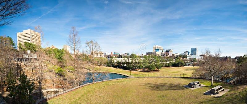 Sikt för Columbia South Carolina stadshorisont från en förbise fotografering för bildbyråer