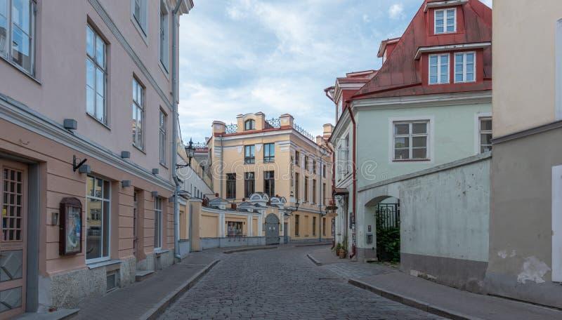 Sikt för Estland Tallinn gammal stadotta royaltyfri fotografi
