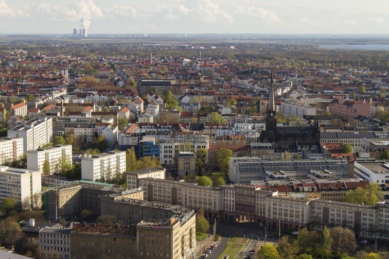 Sikt för fågelöga av Leipzig arkivbild