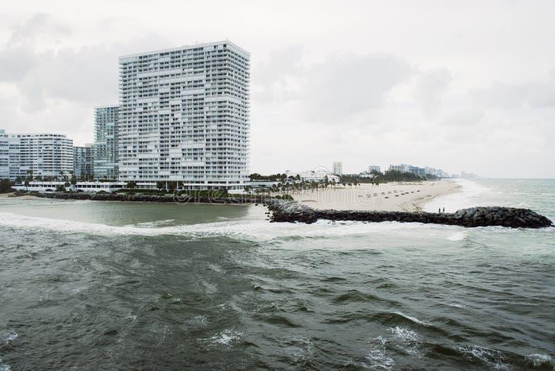 Sikt för Fort Lauderdalestrandhav arkivbilder