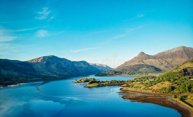 Sikt för Glencoe dalfjord royaltyfri fotografi
