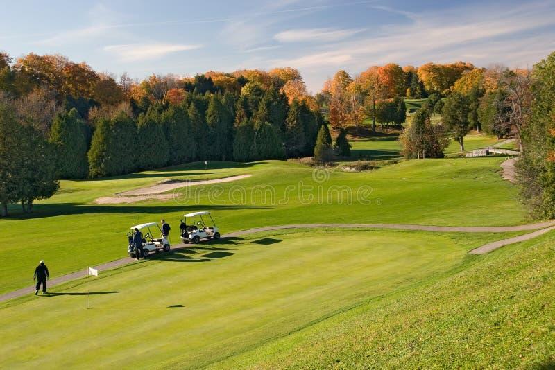 sikt för golf 01 royaltyfri foto