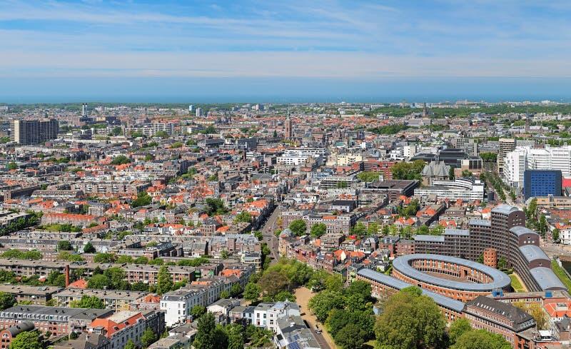 Sikt för hög vinkel av Haag, Nederländerna arkivfoton