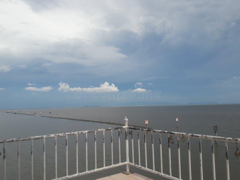 Sikt för hav för blå himmel för frihet fotografering för bildbyråer