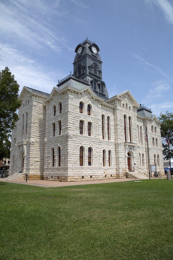Sikt för historisk byggnadGranbury domstolsbyggnad fotografering för bildbyråer