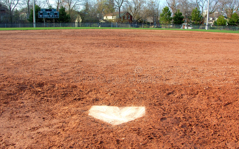 sikt för home platta s för baseballstoppare fotografering för bildbyråer