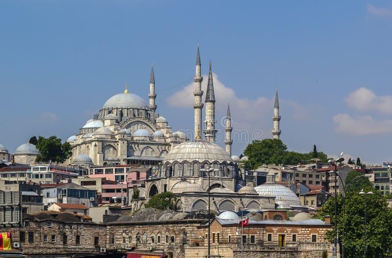 sikt för istanbul moskésuleymaniye royaltyfri fotografi