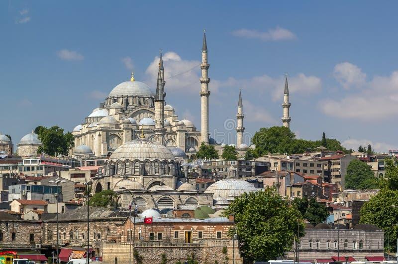 sikt för istanbul moskésuleymaniye royaltyfria foton