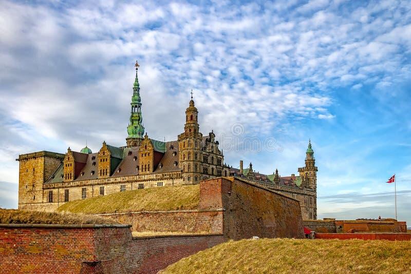 Sikt för Kronborg slotthörn fotografering för bildbyråer
