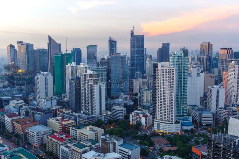 Sikt för Makati stadshorisont arkivbilder
