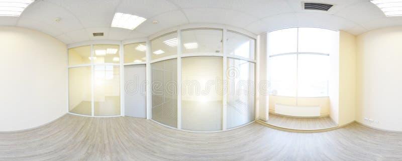 sikt för 360 panorama i den moderna tomma lägenhetinre, gradse stock illustrationer