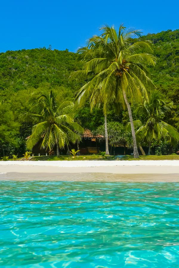 Sikt för för Redang öMalalysia strand och hav royaltyfria bilder