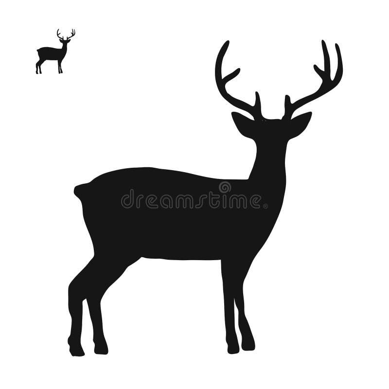 Sikt för sida för hjortlogosymbol vektor illustrationer