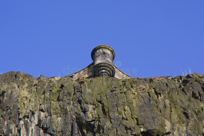 sikt för slottedinburgh scotland turret arkivfoton