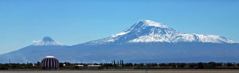 sikt för sommar för ararat armenia dagberg royaltyfria foton