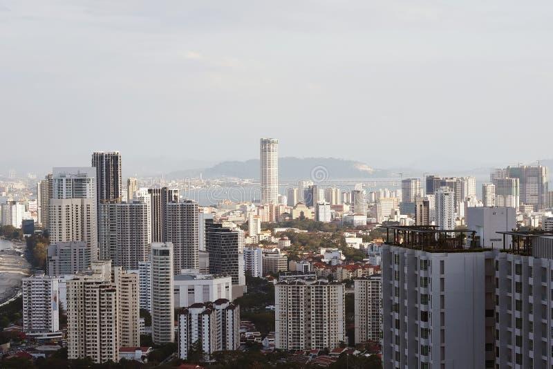 sikt för stadsgeorgetown komtar malaysia torn fotografering för bildbyråer