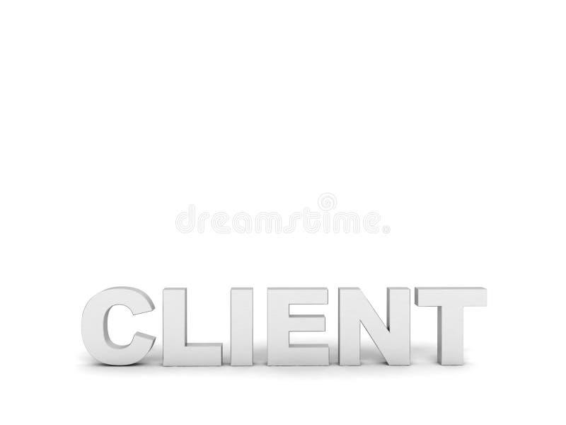 sikt för text tre för beställare dimensionell främre vektor illustrationer