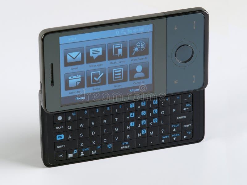 sikt för vänster sida för telefon för tangentbord smart QWERTY arkivbild