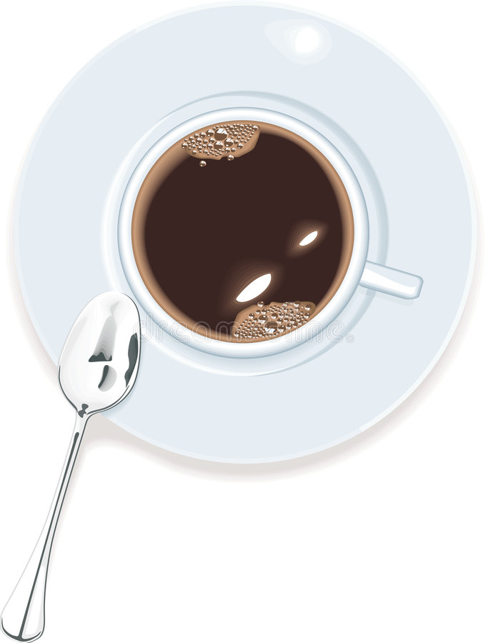 sikt för vektor för överkant för kaffekopp stock illustrationer