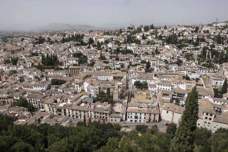 Sikt från överkant av Palacio Nazares arkivfoton