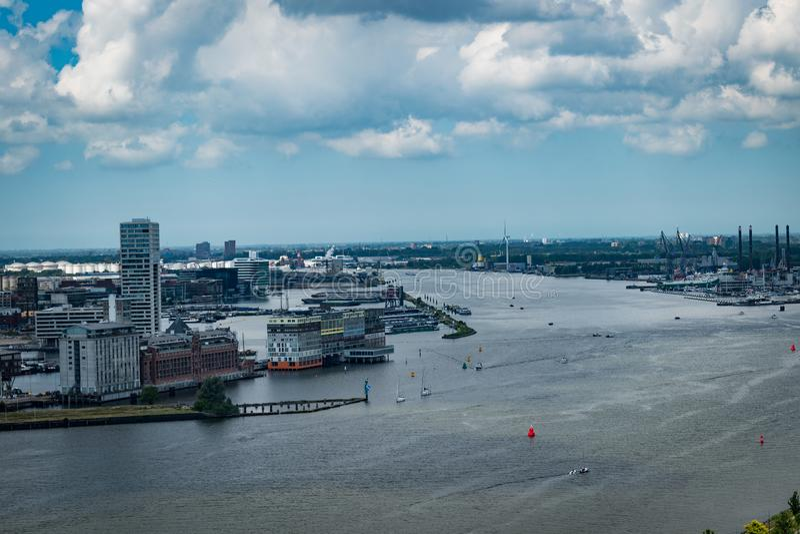 Sikt från Adam Lookout i Amsterdam royaltyfri fotografi